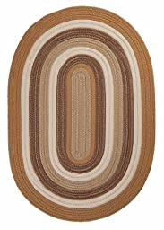 Braided Area Rug 3ft. x 5ft. Oval Amber Way Indoor/Outdoor Reversible Carpet