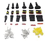 30 sets Kit 1/2/3/4/5/6 Pin Way Waterproof Electrical Wire Connector Plug +30pcs(2hole straight +2/3/4/5/6 Pin Connector sheath)