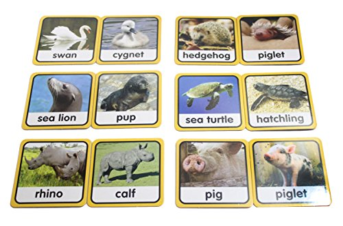 Mom & Baby Animal Matching Game - Preschool and Kindergarten Matching Activity - early learning toy language materials