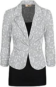 HyBrid & Company Women's Casual Work Lace Blazer Jacket Mad