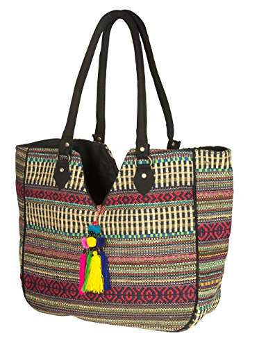 TribeAzure Large Women Shoulder Bag Tote Aztec Handbag Tassel School Everyday Beach Picnic Grocery Laptop Photo #2