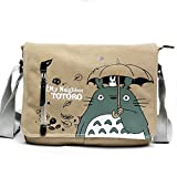 Joyralcos Japanese Anime Messenger Bag Crossbody Canvas Cosplay Shoulder Bag for Boys Girls (Totoro 1)