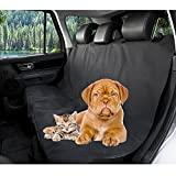 Pet Seat Cover - Dog Car Hammock - Petbob Waterproof Car Bench Backseat Protection Cover - Car Pet Barrier for Car Trucks SUV- Foldable Travel Mat - Adjustable - Easy Cleaning (black - L)