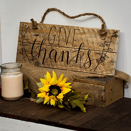 Give thanks Pallet sign Fall decor Autumn decor Thanksgiving decor Thanksgiving sign Be Grateful