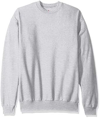 Hanes Men's EcoSmart Fleece Sweatshirt, Ash, Small