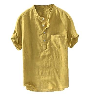 Camisa Algodón Y Lino Hombre Casual 2019 Nuevo Overdose Camisetas ...