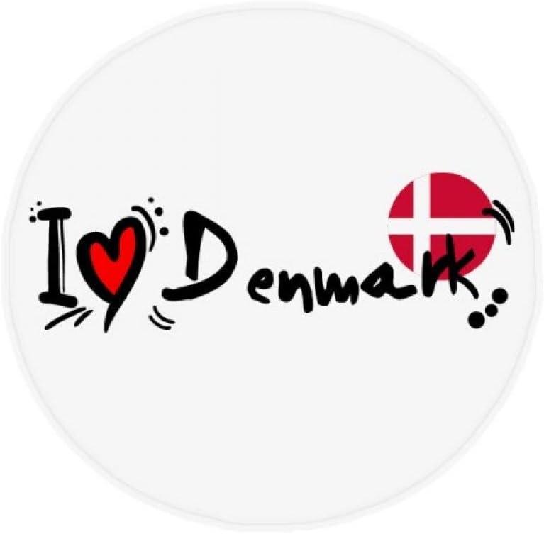 DIYthinker Amo la ilustración de la Bandera de Dinamarca Palabra del Amor del corazón Antideslizante Piso Estera del Animal doméstico Ronda baño Sala Cocina Puerta 80cm Regalo 80 X 80cm: Amazon.es: Hogar