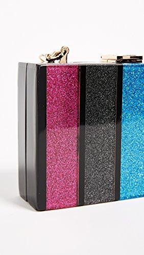 Multi Box MILLY Glitter Stripe Clutch zwqBUXEIx