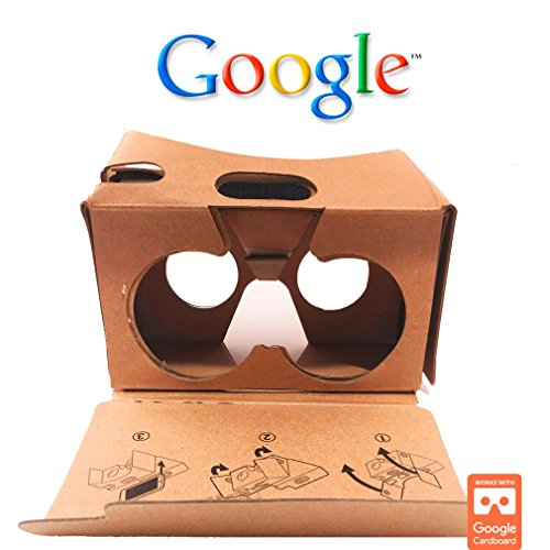 Google Cardboard Virtual Reality Glasses by LookerMax® - Perfect Virtual Reality Headset for Games, Movies & other VR apps. 3D VR Headset - Virtual Reality Goggles for Incredible VR - Low Bifocals Cost
