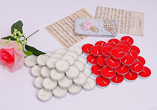 50pcs Candle Smoke-free Smokeless Tasteless Light Scented Wedding Party Thanksgiving Romantic Candles For Decoration