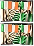 2 Boxes of Mini Ireland Toothpick Flags%