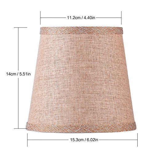 Cleeacc Lampshade Lamp Cover Decorative Handmade Modern E14 Screw Lampshade Buu American Pastoral Style Luxury Crystal Candle Glass E14 Adapter Lamp Shade Cloth Design 3 by Cleeacc (Image #2)