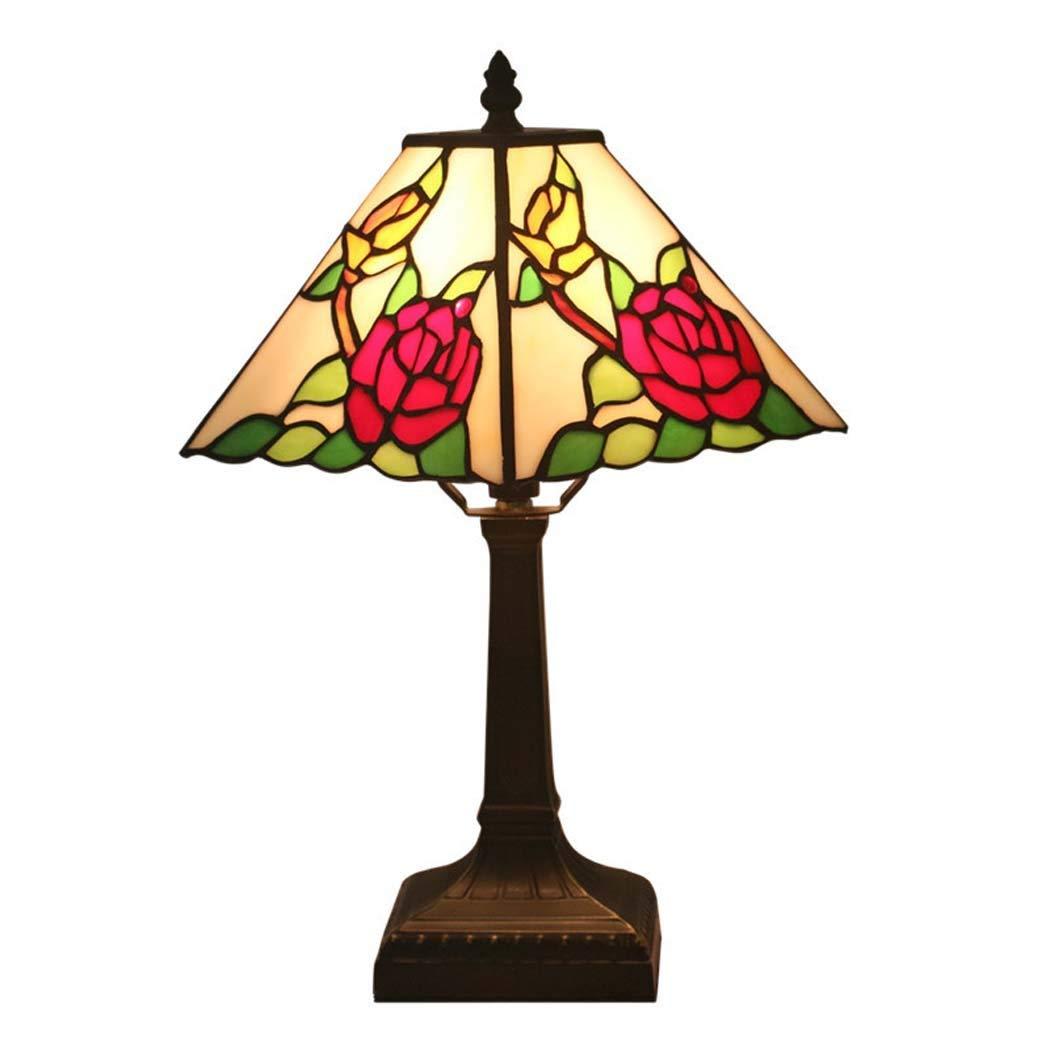 Lámpara de sobremesa pequeña, estilo Tiffany, de 28 cm ...