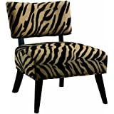 Coaster Microfiber Accent Chair, Zebra Print
