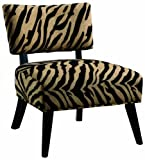 Coaster Microfiber Accent Chair, Zebra Print