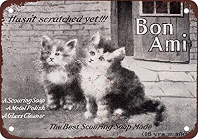 1908 Bon Ami Scouring Soap Vintage Look Reproduction Metal Tin Sign 12X18 Inches