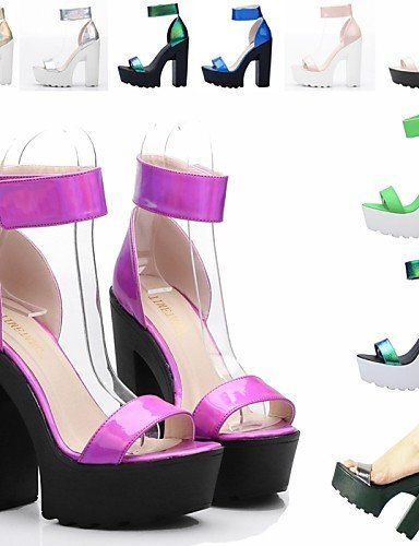 Casual ShangYi More Shoes Women's Heels Chunky Colors Comfort Leatherette gray Heel Sandals Platform qgzW6qnv