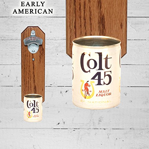 wall-mounted-bottle-opener-with-vintage-colt-45-9oz-beer-can-cap-catcher