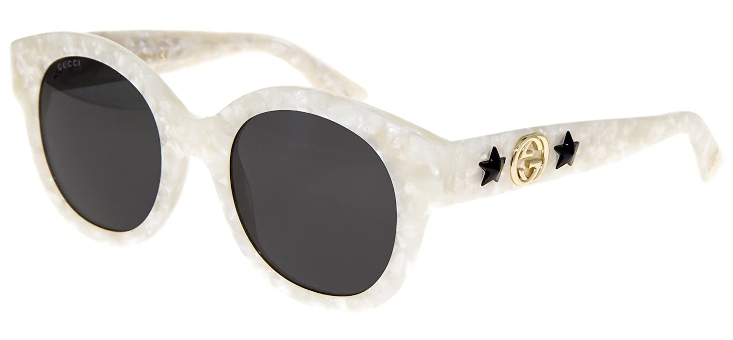 37b7cf9f59 Amazon.com  GUCCI GG0207S Ivory Pearl Cat Eye Star DIVA Sunglasses 0207 006  Women  Clothing