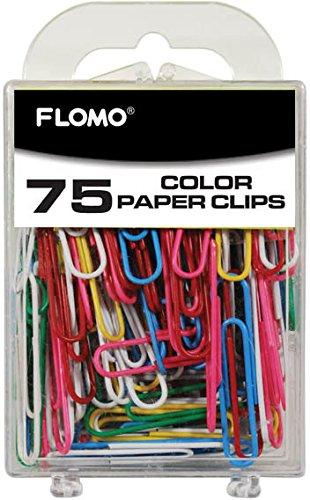 75 count Color 50 mm Paper Clips (Units per case: 48)