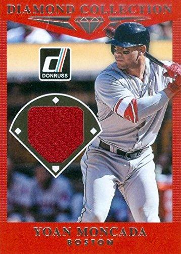White Autographed Baseball (Autograph Warehouse 343311 Yoan Moncada Player Worn Jersey Patch Baseball Card - Boston Red Sox44; White Sox 2017 Donruss Diamond Collection No. DC-YO)