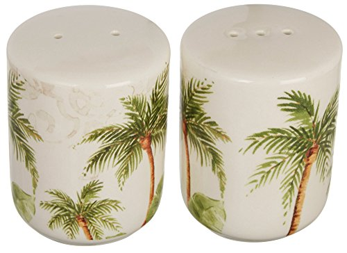 Gibson Palm Tree Salt & Pepper Shaker Set One Size (Palm Tree Dinnerware Sets)