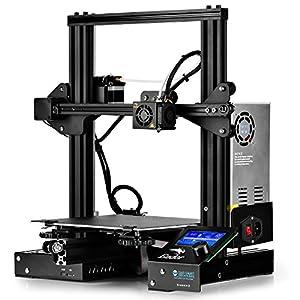 SainSmart x Creality Ender-3 3D Printer, Resume Printing V-Slot Prusa i3, for Home & School Use, Build Volume 8.7″ x 8.7″ x 9.8″