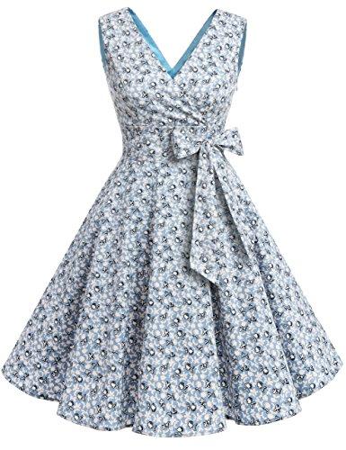 Light Blue Flower Tie - 8