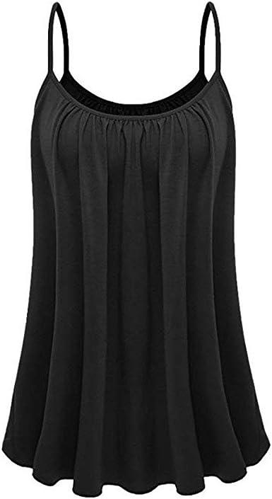 POLP Camiseta de Tirantes para Mujer Suelto Sexy Finos Tirantes Tank Top con Espalda Abierta Blusa de Casual Fiesta Shirt tee Camisola Camisa S-XXL: Amazon.es: Ropa y accesorios
