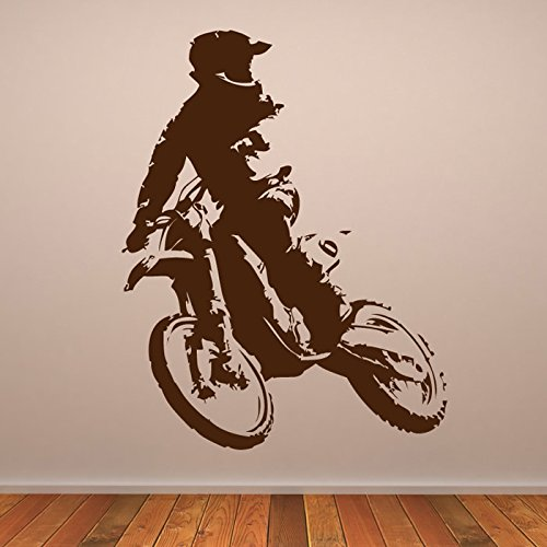 Motorcross Leather - azutura Motorcross Bike Wall Sticker Motorbike Wall Decal Boys Bedroom Home Decor available in 5 Sizes and 25 Colours Medium Leather Brown
