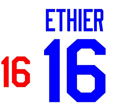Andre Ethier Los Angeles Dodgers Jersey Number Kit Authentic Home
