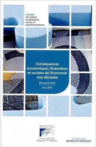 Lire Conséquences économiques, financières et sociales de l'économie non déclarée pdf ebook