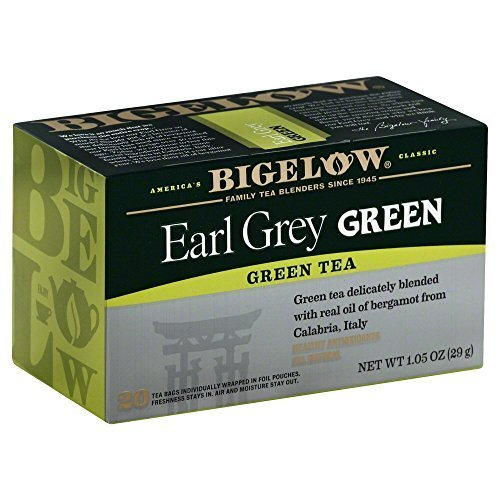 Bigelow Tea Earl Grey Green Tea 20 Tea Bags (Pack of 3)