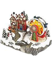 The Christmas Workshop - Adorno de carrusel Animado