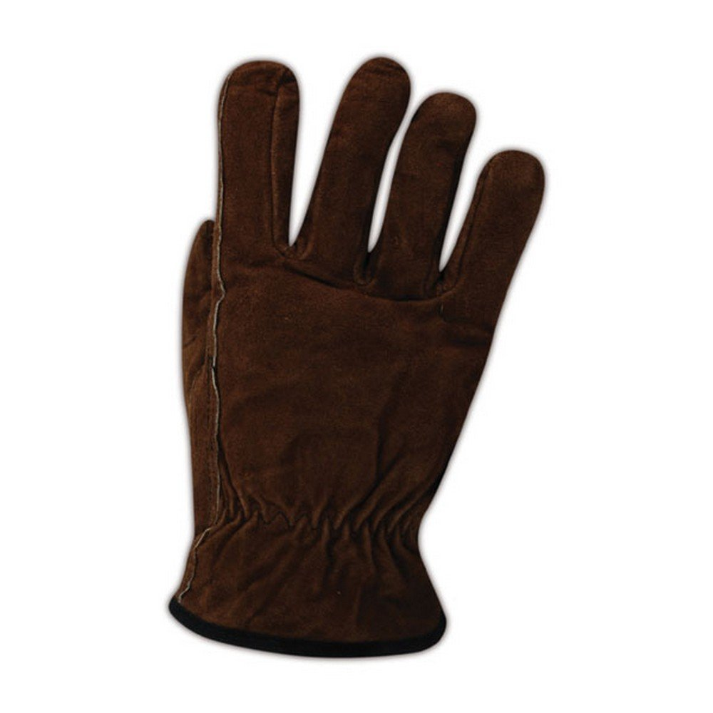 Magid Glove & Safety TB482E-XL Magid Road Master Lined Split Leather Drivers Gloves TB482ES, Tan Brown , XL (Pack of 12)