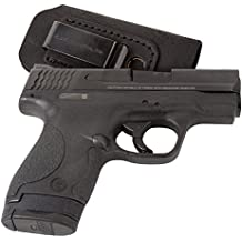 Relentless Tactical The Ultimate Suede Leather IWB Holster - Made in USA - Fits S&W M&P Shield - GLOCK 17 19 26 43/Springfield XD & XDS/H&K VP9 & All Similar Handguns