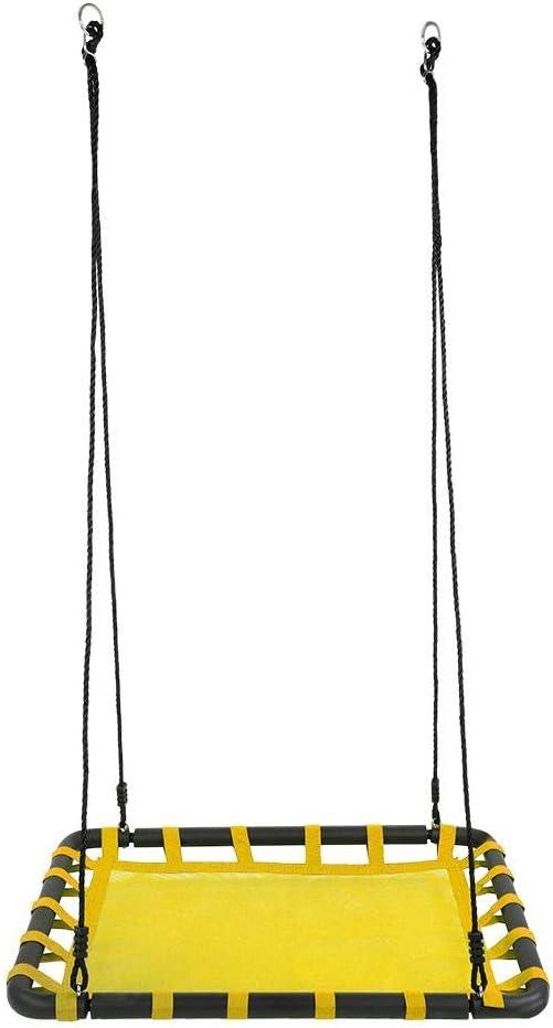 per Bambini e Adulti Altalena Sedia Sospesa Dioche Altalena da Giardino a Rete capacit/à di carico Massimo 150kg Giallo