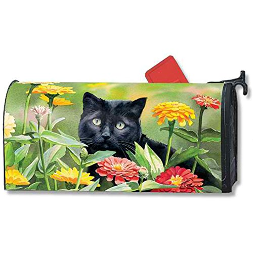 MailWraps Sweet Fragrance Mailbox Cover 01506 Cat Mailbox Covers