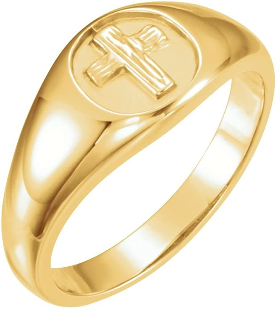 Size 10 The Rugged Cross Chastity Ring for Men in Sterling Silver