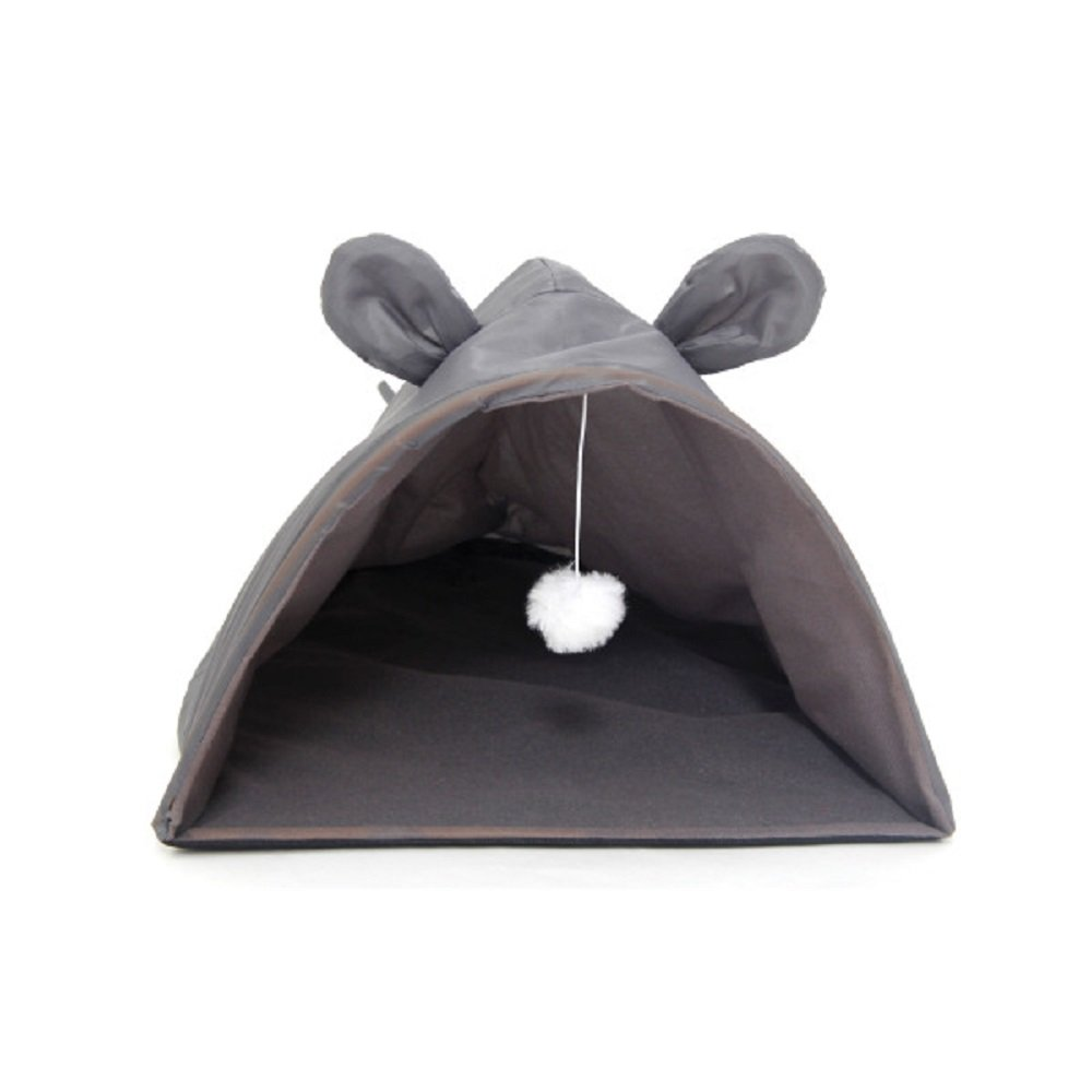Daily Basic Indoor and Outdoor Pet Mouse Shape Cat House with Hanging Toy