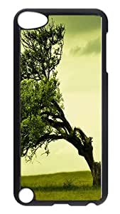 iPod Touch 5 Case, To Pour Tree Rugged Case Cover Protector for iPod Touch 5 / iPod 5th Generation PC Hardshell Case Black Black