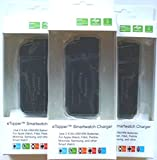 Smartwatch, Golf Watch and Hearing Aid Charger - Portable 2 x AA USB Charger with Built-in Light (Black - 3 Pack)