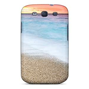 Galaxy S3 Hard Back With Bumper Silicone Gel Tpu Case Cover Sunset At Beach