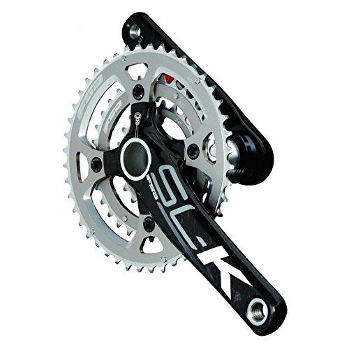 FSA SL-K 386Evo 39/53 11-Speed Road Bicycle Crankset - 336-042 (White Logo - SL-K 386Evo 39/53 172.5) 53 Crankset Bottom Bracket