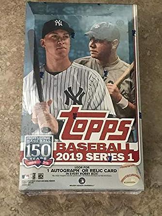 2019 Topps Series 1 Baseball Hobby Box 24 Packs14 Cards 1 Silver Pack