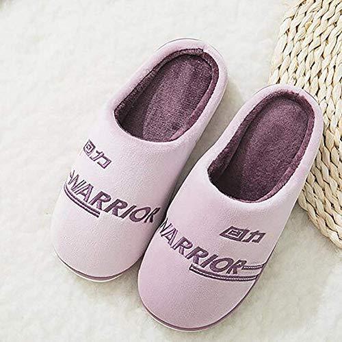 colore Infradito Donna Antiscivolo Comode Pantofole 38 Casualmente Calde Rosa Casa Indoor Cotton outdoor Viola 38 Dimensione Yingsssq 39 39 8Iq6wdn6