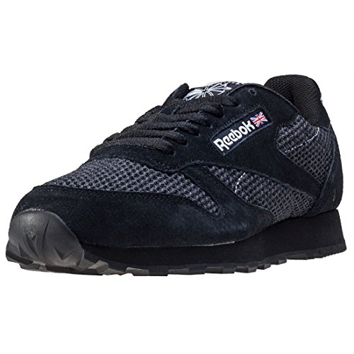 White Knit Classic Leather Reebok Chaussures Black zqZ6xwx