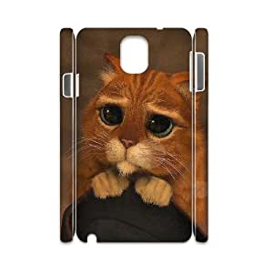 ANCASE Custom Color Printing Puss in Boots Phone 3D Case For Samsung Galaxy note 3 N9000 [Pattern-3]
