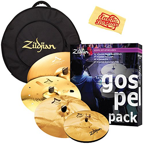 Zildjian Gospel Pack Cymbal Set Bundle with Gig Bag, 14