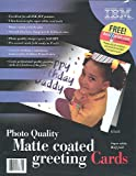 125 IBM Matte Inkjet Photo Quality Greeting Cards with Envelopes